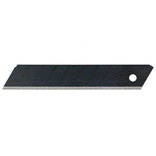Tajima Ersatzklingen für Cutter (Breite 18 mm, 50 Stück in einer Box, Black Blade Klingen, für Pappe,...