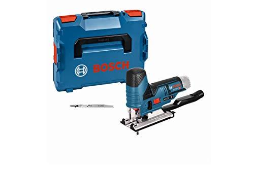 Bosch Professional 12V System Akku Stichsäge GST 12V-70 (2x Sägeblatt, Gleitschuh, Spanreißschutz,...