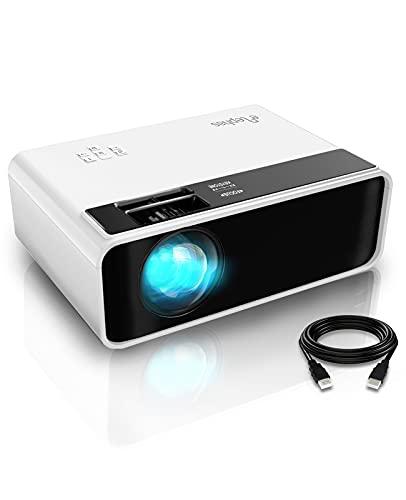 Elephas Mini Beamer 6500 Lux, Tragbar Heimkino Beamer Support 1080P Full HD mit 90000 Stunden, 200 Zoll Video...