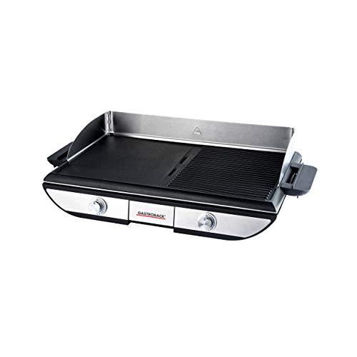 GASTROBACK 42523 Design Tischgrill Advanced Pro BBQ, Zwei getrennt regelbare Grillflächen (1500cm²),...
