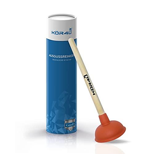 kör4u® Ausgussreiniger I Pömpel für Bad, Küche, Dusche und Toilette I hochwertig, funktional und...
