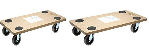 SWV 3009960 (2Stück) Rollbrett TPR Transportrolle Möbelroller 200kg | für empfindliche Böden