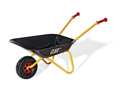 Rolly Toys Metallschubkarre CAT Schubkarre (für Kinder ab 2,5 Jahre, Metallschüssel, belastbar bis 25 kg,...