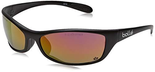Bollé Safety SPIFLASH, Schwarz Schutzbrille mit Rotem Blitz Gläsern, Einheitsgröße Serie SPIDER