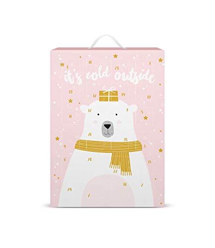 SIX Schmuck-Adventskalender mit Eisbär-Design: 24 Überraschungen in Form schöner Schmuckstücke wie Charms,...