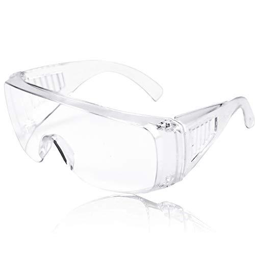 12er Pack Schutzbrille Augenschutz Schutzbrillen Arbeit mit Klaren Gläsern Protective Glasses Überbrille...