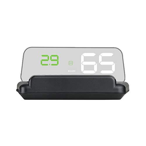 Gecheer Auto HUD Display, Head-Up-Display Hochauflösender Tachometer Autodiagnosewerkzeug OBDⅡ...