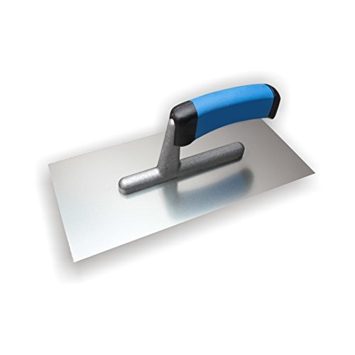 DEWEPRO® Glättekelle - Glättkelle - Glattkelle - Traufel mit Edelstahlblatt - 270x130 mm - Glätter -...
