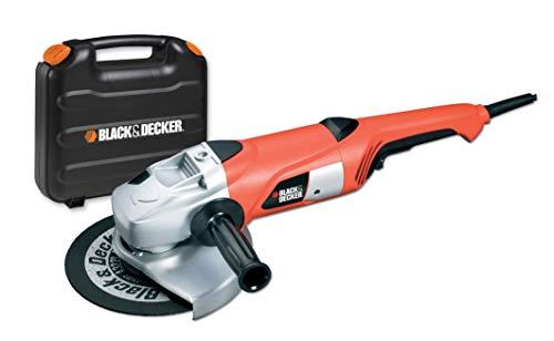 Black+Decker KG2000K Zweihand-Winkelschleifer (2.000 Watt, 230 mm Scheibendurchmesser, inklusiv Schruppscheibe...