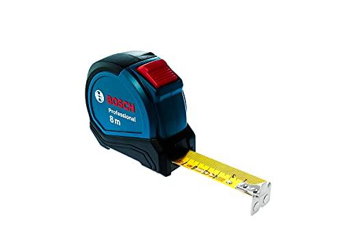 Bosch Professional 1600A01V3S 8m Maßband Autlock (Gürtelklemme, Magnethaken (NdFeB), 27mm Nylon-Stahlband),...