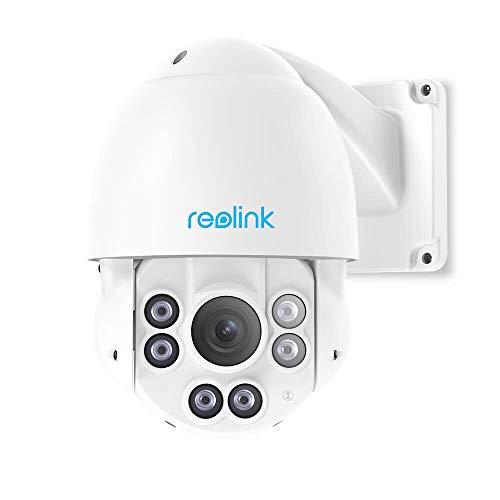 Reolink 5MP PTZ PoE Überwachungskamera Aussen, 4X Optischer Zoom IP Kamera mit 360°/90° Schwenkbar, 58...