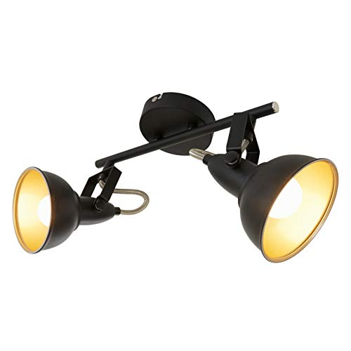 Briloner Leuchten 2049-025 Deckenleuchte, Deckenlampe mit 2 dreh-und schwenkbaren Spots im Retro/Vintage...