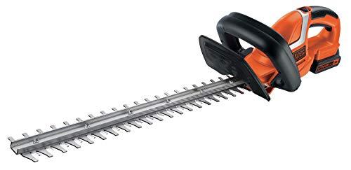 Black+Decker Akku Heckenschere (mit E-Drive Technologie zum Schneiden harter und dicker Äste sowie mittlerer...