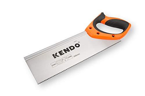 KENDO Zapfensäge 300 mm – 12 Zähne/Zoll – Rückensäge Feinsäge – FastCut – ergonomische...
