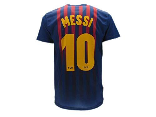 T-Shirt Fußball Lionel Leo Messi 10 Barcelona Barça Home Saison 2018-2019 Replica OFFIZIELLE mit Lizenz -...