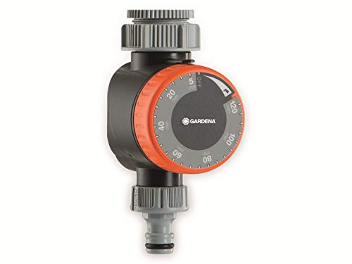 Gardena Bewässerungsuhr: Zeitschaltuhr für Wasserhähne 26.5 mm (G 3/4) oder 33.3 mm (G1), flexible...