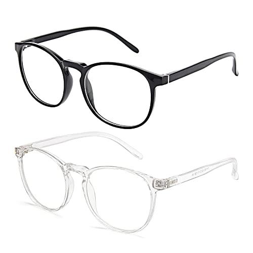Amazon Brand–Eono Blaulichtfilter Brille für Damen Herren- Nerd Brille ohne Stärke - Anti Blaulicht...