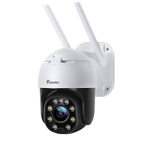 Überwachungskamera Aussen WLAN, Ctronics PTZ Digitaler Zoom Dome WiFi Kamera, 1080P IP Kamera, Mensch...