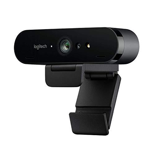 Logitech BRIO ULTRA-HD PRO Webcam, 4K HD 1080p, 5-fach Zoom, Hohe Bildfrequenz, HDR und RightLight 3,...
