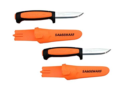 Doppelpack Messer Morakniv Basic Sauscharf Orange Drückjagd Messer Jäger Sonderedition