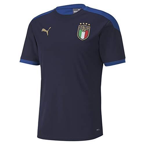 PUMA Herren FIGC Training Shirt, Peacoat-Team Power Blue, M