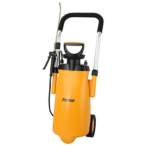 femor Drucksprüher 12L Pump Action Drucksprüher Bewässerungssprühflasche-Riemenrad 12L Hand-Push Sprinkler...