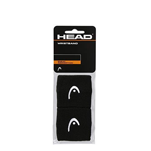 HEAD Unisex-Erwachsene 2,5 Schweißband, schwarz, Einheitsgröße