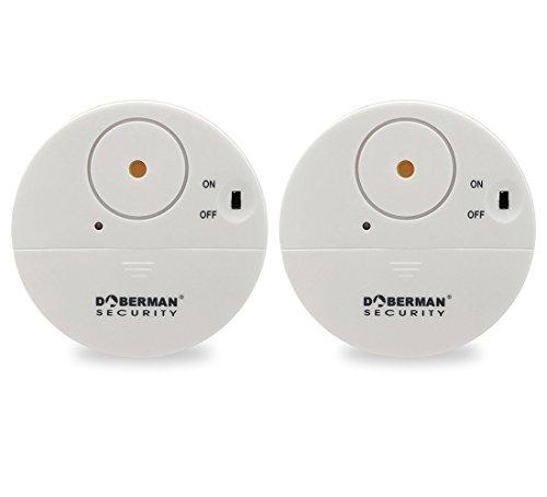 [2 Stück]WER weiß Ultra-Dünner Fensteralarm mit lautem 100dB Alarm und Vibrationssensoren - Moderne und...