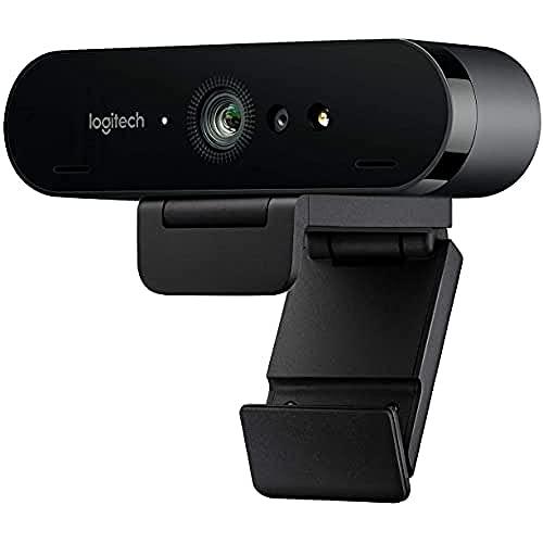 Logitech BRIO STREAM Webcam, 4K Ultra-HD 1080p, Weites anpassbares Blickfeld, USB-Anschluss, Abdeckblende,...