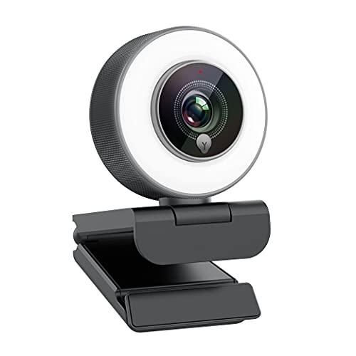 Webcam für Game-Streaming 1080p/eingebauter Einstellbarer Ringlicht/Autofokus (AF) Streamer Webcam für...