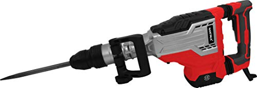 Matrix 120700110 EDH 1700-2 Abbruchhammer SDS MAX, 1700 Watt, 40 Joule, inklusive 2 Meißel und Koffer, Rot,...