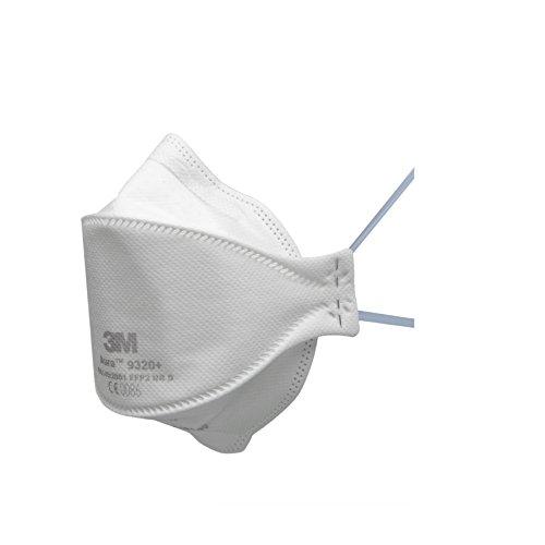 3M Aura Atemschutzmaske 9320+ – Komfortable Partikelschutzmaske mit optimaler Gesichtsanpassung –...