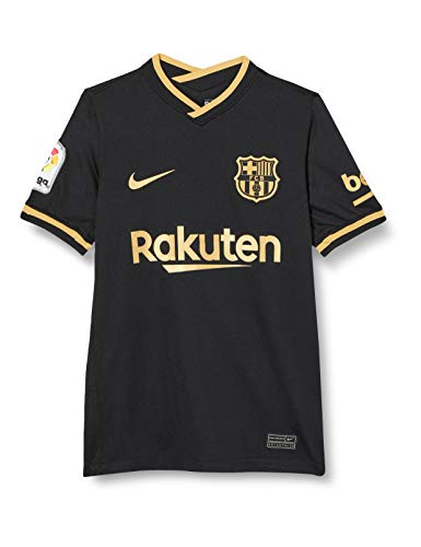 Nike Kinder Trikot FC Barcelona Stadium Away, Black/Metallic Gold, M, CD4499-011