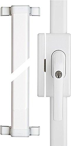 ABUS Fenster-Stangenschloss FOS650A AL0125 - Zusatzsicherung mit Alarm, ideal für hohe Fenster und...