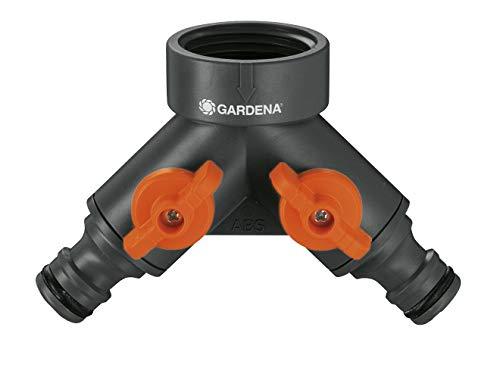 Gardena 2-Wege-Ventil: Wasserverteiler für Wasserhahn mit 26.5 mm (G 3/4 Zoll) Gewinde, für gleichzeitigen...