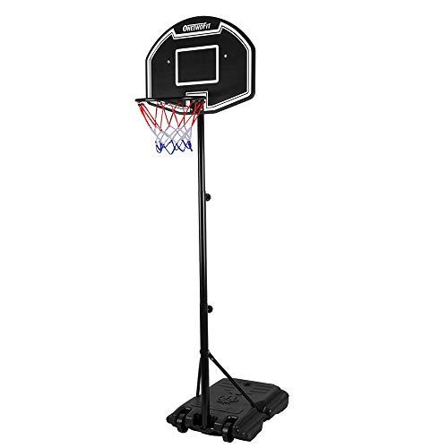 ONETWOFIT Basketballkorb mit Ständer Basketballkorb Set,113-205cm höhenverstellbares mobiles...