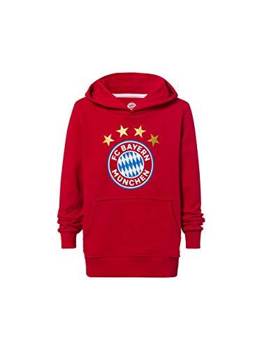 FC Bayern München Hoodie Logo rot Kinder/Kapuzenpullover mit Kängurutasche / 152