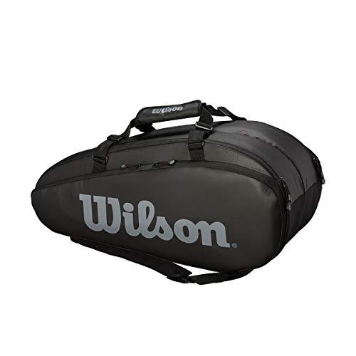 Wilson Unisex Tennistasche Tour 2 Comp, schwarz, large, für bis zu 9 Schläger, WRZ849309
