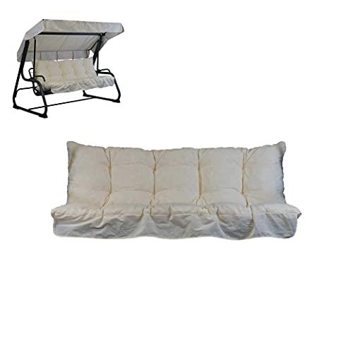 Kissen für 4-Sitzer-Hollywoodschaukel, inklusive passendem Dach, 100 % Made in Italy, Rahmen nicht im...
