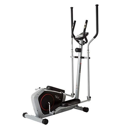 HAMMER Crosstrainer CT3, kompakt und platzsparend, Smartphone- und Tablethalterung für...