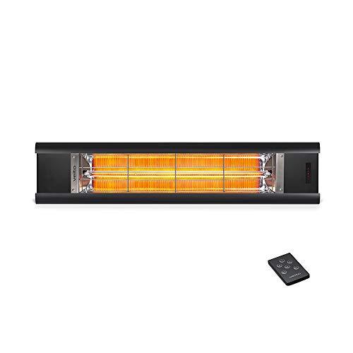 veito Aero S Elektro-Infrarot-Heizstrahler | Karbon (Carbon) | Terrassenstrahler | Wärmestrahler | 2500 Watt...