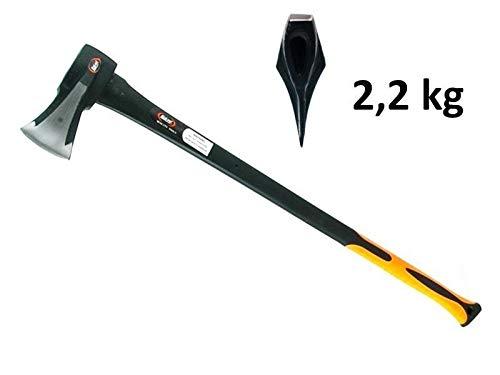 MISO Tools Spalt-Axt mit integriertem Spaltkeil und EIN Kopfgewicht von 2200 g mit Fiberglas-Stiel