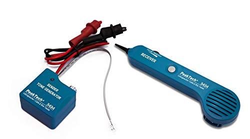 PeakTech 3434 – Leitungssucher für Leitungen und Telefonkabel mit Durchgangsprüfer und Tonsignal,...