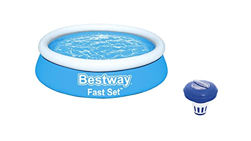 Bestway Pool set Komplett - Quick up Pool - Schwimmpool Rund für garten mit Reinigungsfilter - 183 x 51 cm
