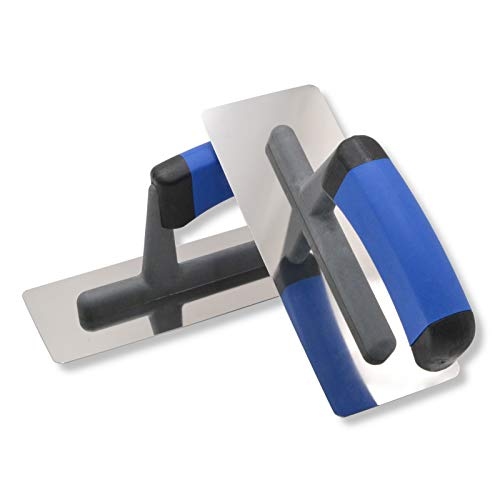 2er Set DEWEPRO® Venezianische Glanzputz Glättekelle - Venezianer - Stucco Kelle - 200x80mm - Edelstahlblatt...