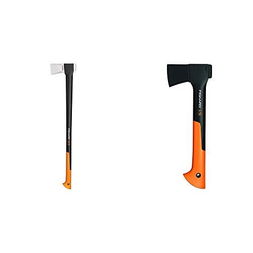 Fiskars Spaltaxt, Länge: 96 cm, Antihaftbeschichtet, Schwarz/Orange, X27–XXL, 2,57 kg & Universalaxt,...
