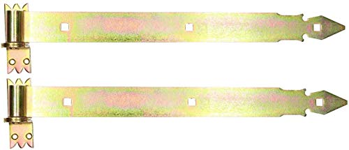 KOTARBAU® Ladenband 500 mm 2 St. mit Kloben Torband Türband Torscharnier Scharnier Baubeschlag Torbeschlag...