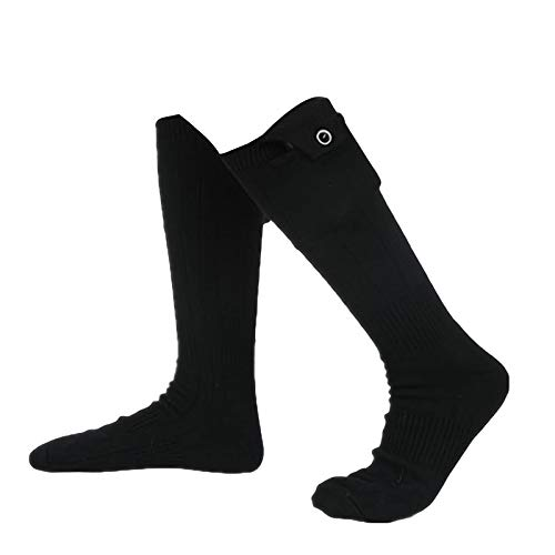 BIBOKAOKE Beheizte Socken, Beheizbare Socken Skisocken Elektrischer Fußwärmer Heizsocken Warme socken für...