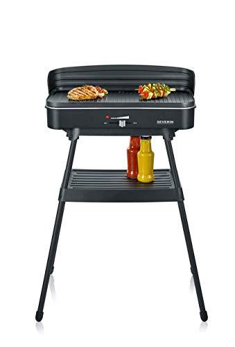 SEVERIN PG 8533 Barbecue-/Standgrill (2.200 W, Grillfläche 49,5 x 24 cm, Lange Zuleitung 1,4 m) schwarz