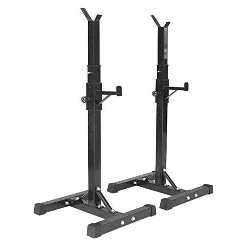 WARLA Squat Rack, kniebeugenständer, höhenverstellbar (105-160cm), maximale Belastung 200 kg, Stahlrahmen...